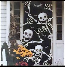 "Halloween Scary Skeleton Door Cover or Wall Decoration 30"" X 72"""