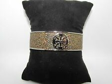 RUSTIC CUFF DANIELE GENUINE STINGRAY - METALLIC GOLD/SILVER