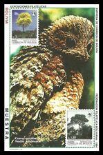 BOLIVIA 1994 BIRDS OIL BIRD TREES SPECIMEN M/SHEET MNH