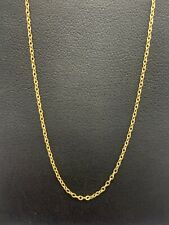 18ct 18k Yellow Gold Italian Fine Cable Link Chain Necklace 1.5 Grams 52cm. New