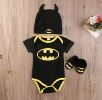 Batman baby newborn toddler  bodysuit jumpsuit hat socks set girl boy clothes