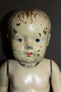 Antique ALL METAL Baby Doll