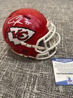 Chris Jones Kansas City Chiefs Autographed Riddell Speed Mini Helmet w/ COA
