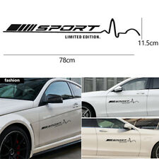 2Pcs Black Vinyl Decal Stickers Sports Styling for Mercedes Benz W204 W205 C63