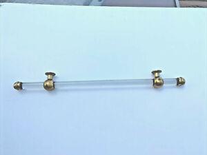 Antique grab bar towel rod rack holder    bathroom vtg brass