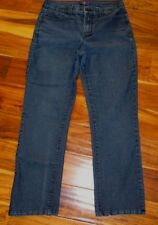 NYDJ NOT YOUR DAUGHTERS JEANS SZ 10 X 27.5 BLUE ANKLE STYLE CUTE POCKETS NICE!