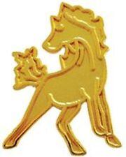Gold Mustang Mascot Jacket Pin, Mustang Letterman Jacket Award Pin