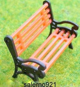 LOT OF 4 BENCHES  (HO) 1:87 True Scale GREAT..GREAT..DETAILS!