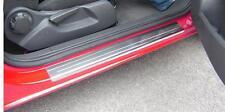 Vauxhall Corsa D (06-14) Silver Steel Kick Plate Car Door Sill Protectors -K122x