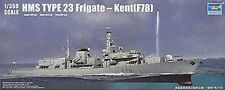 Trumpeter HMS Kent F78 Type 23 Frigate 1/350th Scale Plastic Model Kit TM04544
