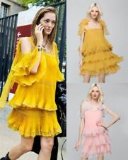 Polyester Solid Dresses for Women with Pleated