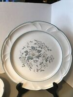 """Country Ware Ashberry Dinner Plate Vintage Made In Japan 10 3/4"""" cream/blue used"""