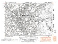 Merthyr Tydfil, old map Glamorgan 1948: 12NW repro Wales