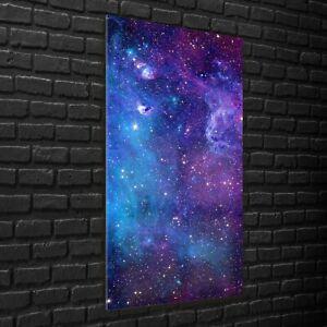 Wall Photo Art Print on Glass 70x140 Galaxy space stars sky universe nebula sky