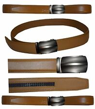 Men's belt, Genuine Leather Dress & casual Belt. Auto lock New Buckle UP to 50"