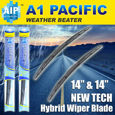 "Hybrid Windshield Wiper Blades Bracketless J-HOOK OEM QUALITY 14"" & 14"""