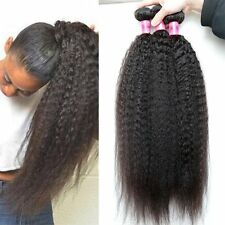 Brazilian Yaki Kinky Straight 100% Unprocessed Virgin Human Hair Extension Weft