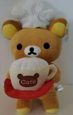 "NWT Big 19"" Rilakkuma Plush - Cafe Cup Waiter Chef Hat Waiter San-X"