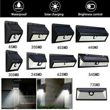 8-73 LED Solar Power PIR Motion Sensor Wall Light Outdoor Garden Lamp Waterproof