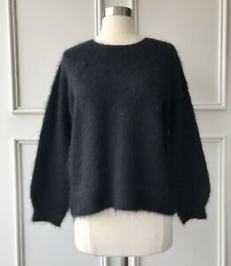   COUNTRY ROAD   brushed mohair sweater knit black   NEW   $159   SIZE:XXS,XS,XL