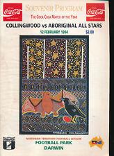 1994 Collingwood vs Aboriginal All Stars Football Record Football Park Darwin