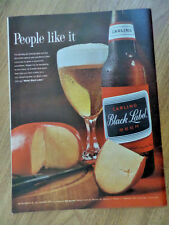 1962 Carling Black Label Beer Ad  Cheese