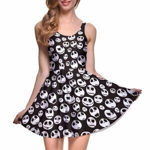 Jack Skellington Skater Dress, Halloween, Christmas, Size S-4XL UK Seller, BNWT