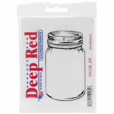 Cling Stamp 4 inch x 5 inch - Mason Jar - Deep Red Stamps