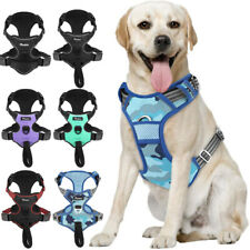 Pawaboo Dog Non-Pull Pet Vest Harness Adjustable Reflective Outdoor Walking