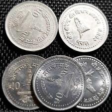 NEPAL (VS2061) AD2004 50 Paisa Coin,UNC Dia 23mm 5pcs(+FREE 1 coin)#D3897