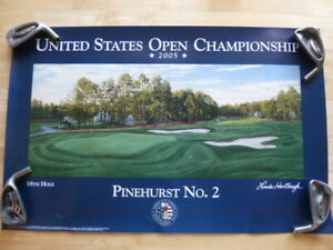 NEW 2005 USGA Pinehurst #2 105th US Open Championship Event Golf Poster
