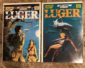 Luger  #2 and 3 Eclipse Comics 1986