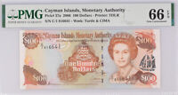 Cayman Islands 100 Dollars 2006 P 37 a Gem UNC PMG 66 EPQ Top Pop