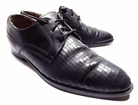 GIORGIO BRUTINI OXFORDS 653641MENS BLACK LEATHER SIZE 11.5 D DRESS LACE UP SHOES