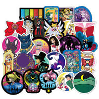 50Pcs Sailor Moon Cute Cartoon Stickers For Laptop Motorcycle Skateboard Luggage