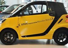 AMAZING ☆ COPPIA ☆ auto corpo Striscia Auto Adesivo Decalcomania Grafica per Smart (Nero)