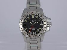 Ball Engineer Hydrocarbon auto date black dial 300m SS bracelet GMT watch in box