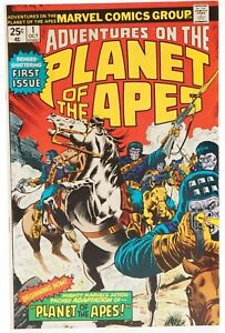 💎 1975 ADVENTURES ON THE PLANET OF THE APES #1 Marvel Comics VF 👀🎉💎