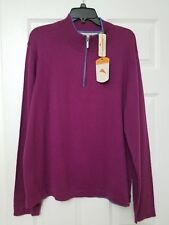 NWT Tommy Bahama Island Luxe Half Zip T40057 Berry Schuster Gr. XL