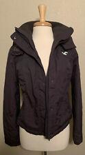 Hollister California Women's All Weather Jacket Fleece Lined Hooded Gray Medium