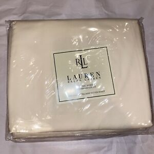 NIP RALPH LAUREN CLASSIC CURRANT ALMOND KING SUPIMA EXTRA DEEP FITTED SHEET