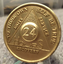 Alcoholics Anonymous 24 Hour Recovery Coin Chip Medallion Medal Token AA Hours