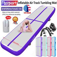 Fbsport 3m 4m 5m 6m Inflatable Air Track Floor Gymnastics Tumbling Mat+Pump Us