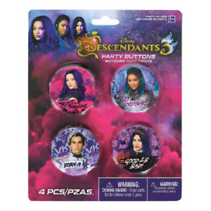 Disney Descendants 3 Badge Pack - Pack of 4