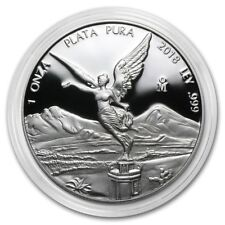 PROOF LIBERTAD - MEXICO - 2018 1 oz Proof Silver Coin in Capsule - USA FREE SHIP