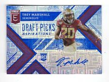 TREY MARSHALL NFL 2018 ELITE DRAFT PICKS AUTO ASPIRATION #/30 (BRONCOS,SEMINOLES