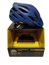 NEW Mavic Crossride SL Elite MTB Helmet True Blue/Fiery Red 54-59cm Reg$100