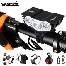 Powerful 10000Lm 3x T6 LED Bicycle HeadLamp Mountain Bike Light Laser Taillight