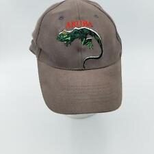 Aruba Lizard Hat Cap Gray One Size Adjustable Buckle Metal Closure