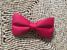 WHOLESALE LOT NEW LITTLE/TODDLER  BOYS BOW TIES RED SATIN SOLID/USA MADE